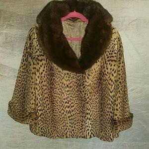 Fabulous Vintage Fur and Mink Leopard Swing Coat